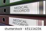 office binders with medical... | Shutterstock . vector #651116236