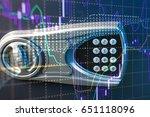 fintech investment financial...   Shutterstock . vector #651118096