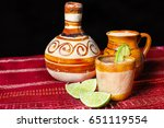 pulque   traditional mexican... | Shutterstock . vector #651119554