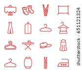cloth icons set. set of 16... | Shutterstock .eps vector #651121324