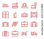 baggage icons set. set of 16... | Shutterstock .eps vector #651121480