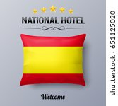 realistic pillow and flag of... | Shutterstock .eps vector #651125020