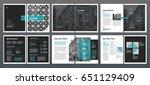 design annual report vector... | Shutterstock .eps vector #651129409