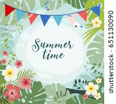 summer time background with... | Shutterstock .eps vector #651130090