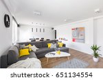 modern  white living room with... | Shutterstock . vector #651134554