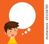 thinking boy cartoon design.... | Shutterstock .eps vector #651136783