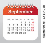 calendar 2011  september | Shutterstock .eps vector #65114218