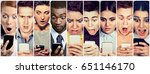 multicultural group of young... | Shutterstock . vector #651146170