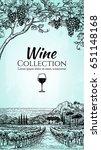 wine list design template. hand ... | Shutterstock .eps vector #651148168