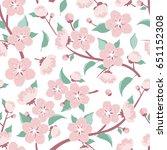 apple flowers. cherry flowers... | Shutterstock .eps vector #651152308
