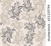seamless floral pattern.... | Shutterstock .eps vector #651155794