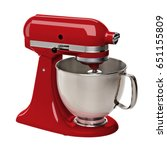 Red Stand Or Kitchen Mixer Wit...