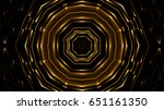 abstract golden lights... | Shutterstock . vector #651161350