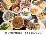 turkish food  adana kebab ... | Shutterstock . vector #651167170