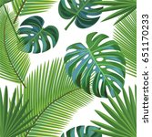 tropical pattern. vector... | Shutterstock .eps vector #651170233