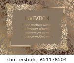 floral invitation card or... | Shutterstock .eps vector #651178504