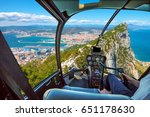 aerial view of top of gibraltar ... | Shutterstock . vector #651178630