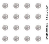 a repeating pattern of nickels... | Shutterstock . vector #651179224