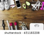 healthy living lifetsyle...   Shutterstock . vector #651183208