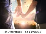 father's day concept  son hand... | Shutterstock . vector #651190033