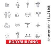bodybuilding  body  muscle  gym ... | Shutterstock .eps vector #651191368