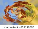 abstract autumn background with ... | Shutterstock . vector #651193330