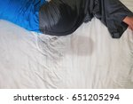 bedwetting  pee on a bed... | Shutterstock . vector #651205294