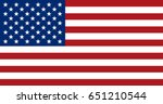 flag design. american flag on... | Shutterstock .eps vector #651210544
