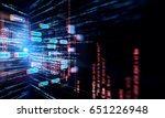 block chain network and...   Shutterstock . vector #651226948