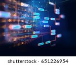block chain network and... | Shutterstock . vector #651226954