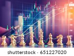 pieces of chess board behind... | Shutterstock . vector #651227020