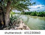 rio grander dividing border... | Shutterstock . vector #651230860