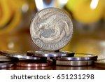 a new zealand dollar sitting on ... | Shutterstock . vector #651231298