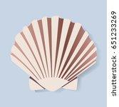 seashell vector illustration...   Shutterstock .eps vector #651233269