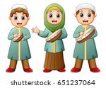 vector illustration of happy... | Shutterstock .eps vector #651237064