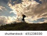 umbrella and pretty girl... | Shutterstock . vector #651238330