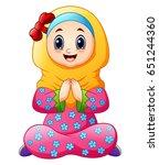 vector illustration of muslim...   Shutterstock .eps vector #651244360