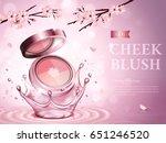 cherry blossom cheek blush... | Shutterstock .eps vector #651246520