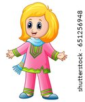 vector illustration of happy... | Shutterstock .eps vector #651256948