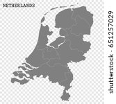 high quality map of netherlands ... | Shutterstock .eps vector #651257029