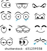 cartoon eyes in vector | Shutterstock .eps vector #651259558