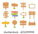 set of wooden tablets and signs.... | Shutterstock .eps vector #651259990