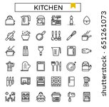 kitchen icon vector... | Shutterstock .eps vector #651261073