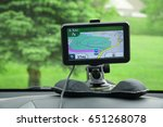 Small photo of gps device and display put on the car