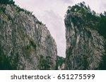beautiful mountain gorge | Shutterstock . vector #651275599