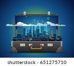 around the world concept.... | Shutterstock .eps vector #651275710