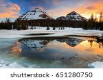 uinta sunset reflection in an... | Shutterstock . vector #651280750