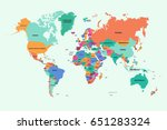 world map with country name | Shutterstock .eps vector #651283324
