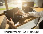 digital marketing technology... | Shutterstock . vector #651286330