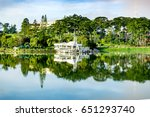 xuan huong lake at da lat city  ...   Shutterstock . vector #651293740